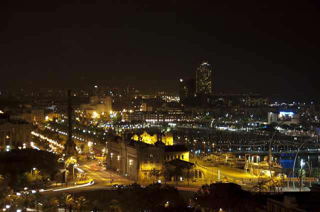 Night view of Barcelona
