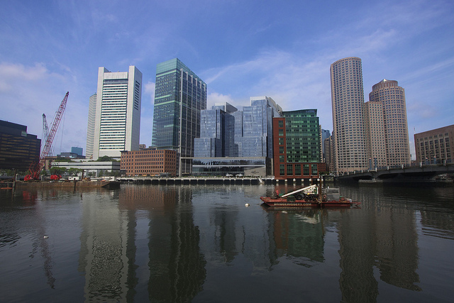 Boston from Seaport district