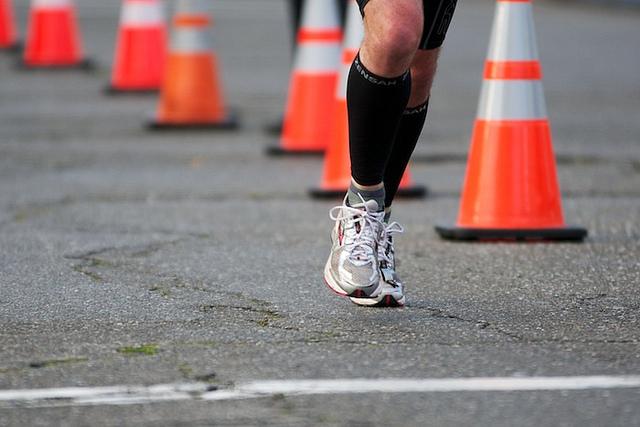 Runner in the 2012 Oakland Marathon