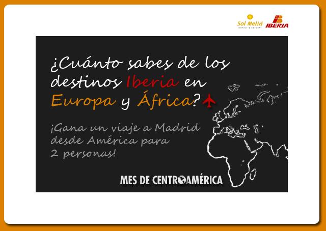 Concurso Iberia y Sol Meliá en Facebook