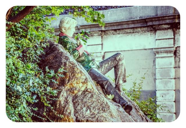 Escultura de Oscar Wilde en Dublín, Irlanda