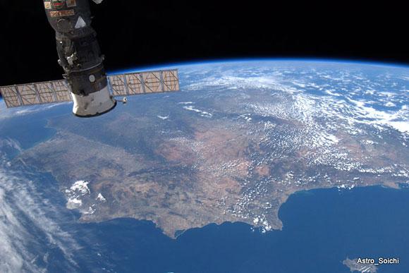 España desde la ISS por Soichi Noguchi