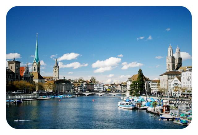 Río Limmat, en Suiza