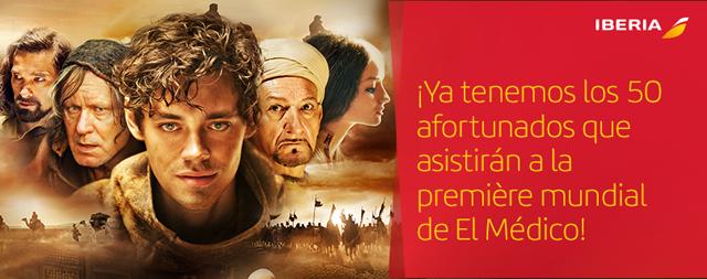Ganadores #Iberiateinvita a la première de El Médico