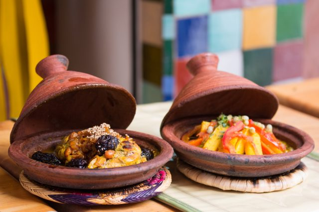 L2F Mar 17 pic Morocco Tangiers tagines shutterstock_240367438