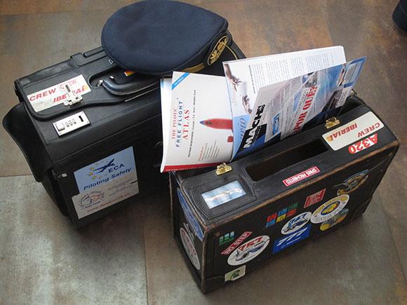 Los maletines de nuestro piloto