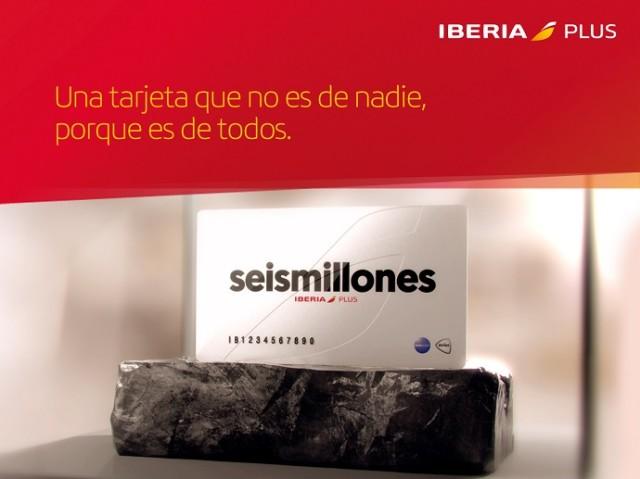 Tarjeta Iberia Plus seismillones