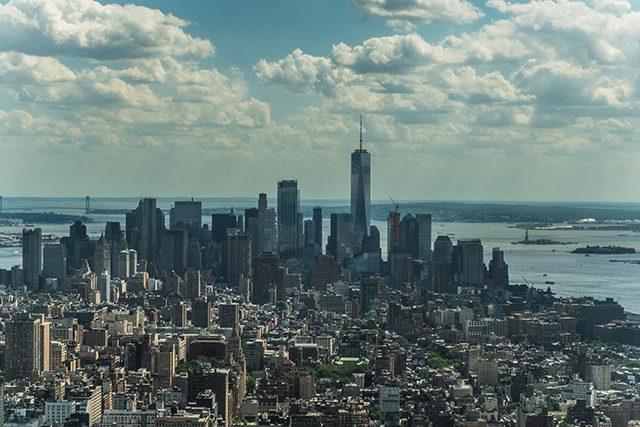 Vista Panorámica Empire State Nueva York Estados Unidos Algo Que Recordar