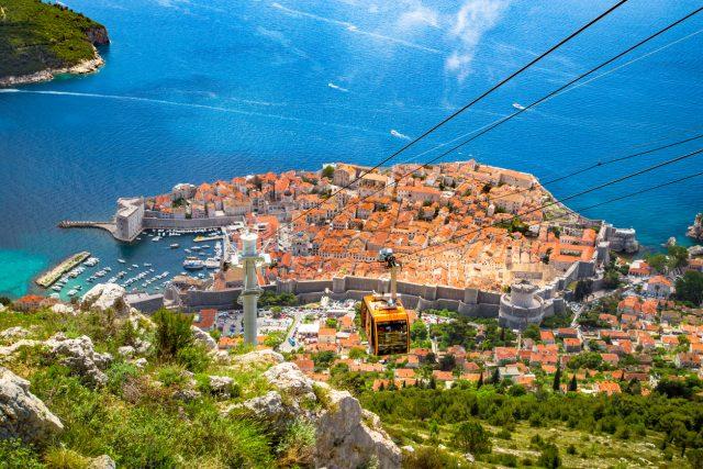 Mirador Monte Srd de Croacia