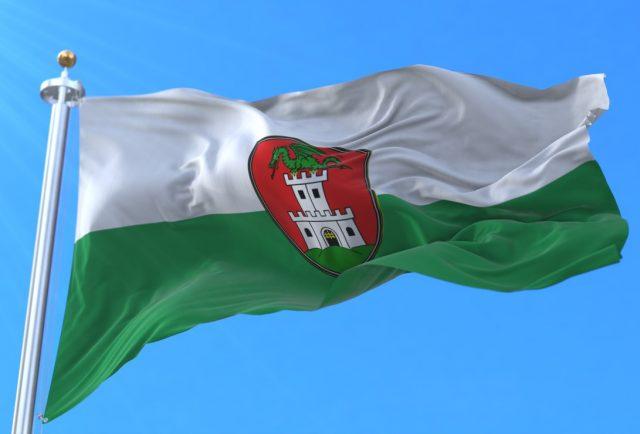 Bandera Liubliana, dragón