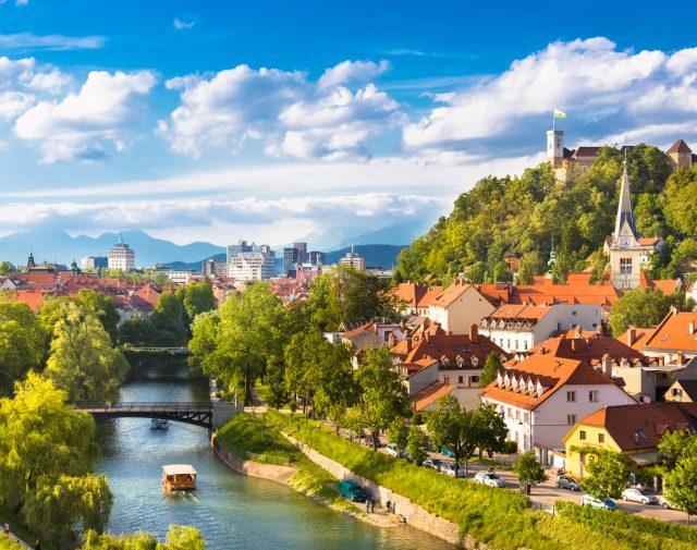 Panorámica de Liubliana, Eslovenia